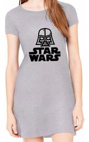 Vestido Feminino Star Wars Vestidos Curto Roupas Barato Novo
