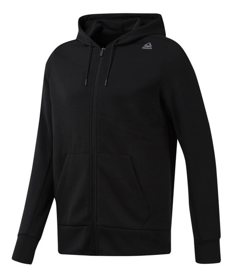 Campera Reebok Modelo Workout Melange Doubleknit Full Zip 2