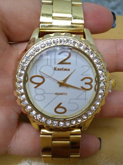 Relógio Feminino Strass Quartz