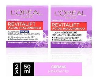 Pack Crema Dia + Noche Revitalift Acido Hialurónico L