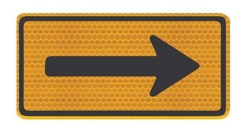 Placa De Trânsito Sentido Único Refletivo A-26a Ti