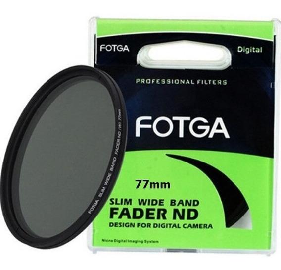 Filtro Nd 77mm Slim Variável Nd2 Até Nd400 Fotga