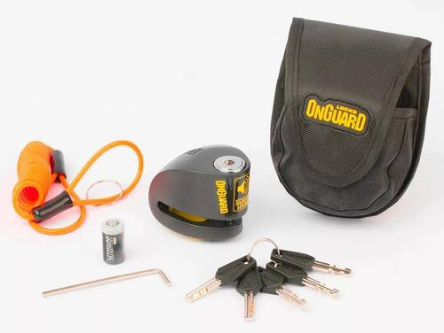 Tranca Moto On-guard Disco Con Alarma 6mm
