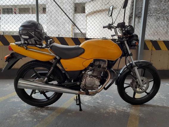 Honda Cg 125 Cargo Amarela Impecável