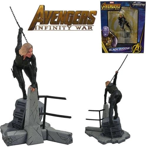 Imagem 1 de 4 de Estatueta Black Widow Avengers Diamond Select Gallery