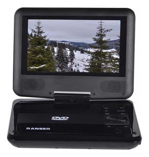 Dvd Portátil Ranser Pdvd-07b Reproductor Multimedia Gira 180