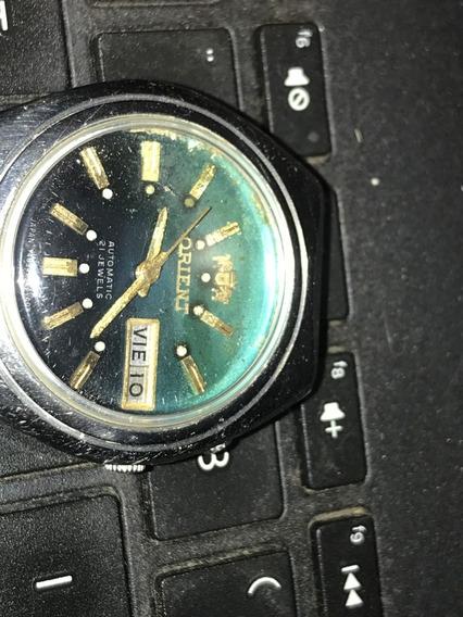 Relógio Orient Automático Japan Fundo Azul Degradee