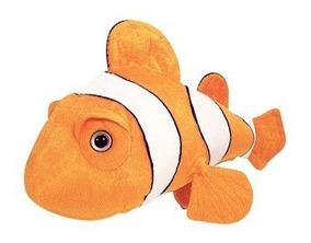 Peixe Nemo De Pelúcia Laranja 34 Cm Lavável Antialérgico