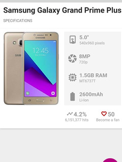 Samsung Galaxy Grand Prime Plus De 8gb Usado