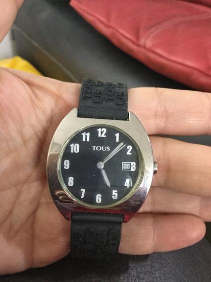 Reloj Tous Para Mujer, Cuarzo Con Correa De Plástico Negra