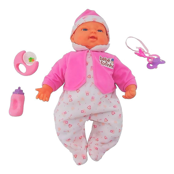 Boneca Bebê Fofucha Com Expressão Real Promoção Pronta Entre