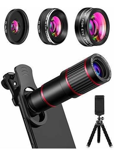 Mactrem Phone Camera Lens Kit De Lentes Para Telefono 9 En 1