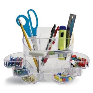 Officemate Doble Organizador De Fuente Transparente