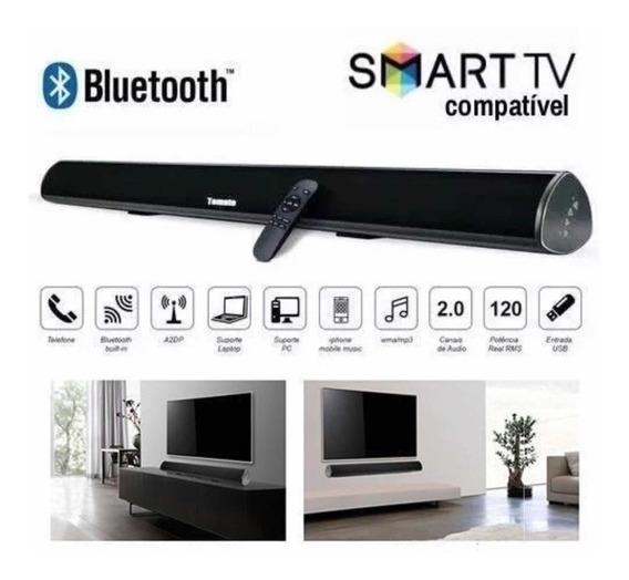 Soundbar Tomate 120w Caixa De Som Bluetooth Rca Cinema Home