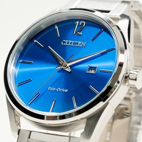 Elógio Masculino Citizen Prata Azul - Tz20680f