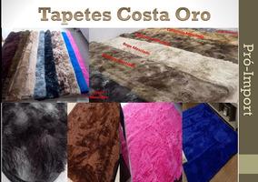 Kit Tapete Felpudo Pelo Alto - Costa Ouro 3x2 + 2,4x2