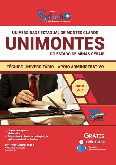 Apostila Unimontes 2019 Técnico Universitário Administrativo