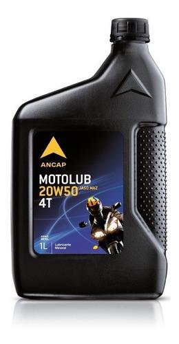 Motolub 4t 20w50 Lubricante Moto  Ancap 1 Lt - Mileban