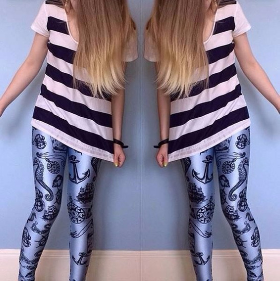 Leggings/calza Simil Blackmilk Nautical Pinup