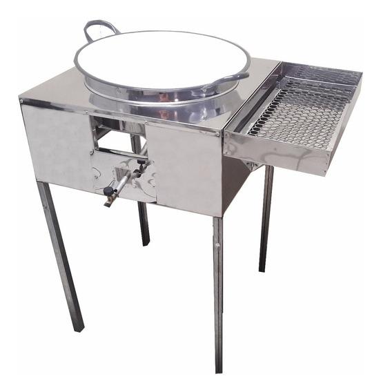 Fogão Pasteleiro Fritador Pastel C/ Escorredor E Tacho 18 R2