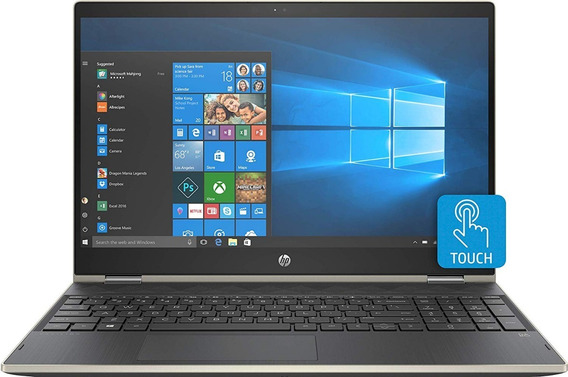 Notebook 2 Em 1 Hp X360 Core I7 8gb 2 Tera Placa De Vídeo Dedicada 4gb 15,6 Touch Full Hd Ips Dourado