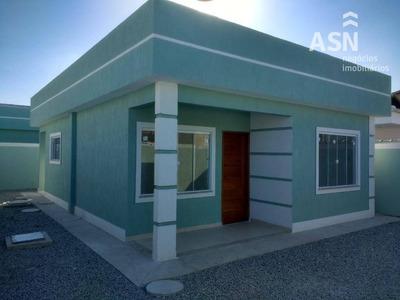 Vistosa Casa Linear Com 65m², 02 Qts, Em Ótima Localização No Enseada Das Gaivotas, Rio Das Ostras/rj - Ca0270