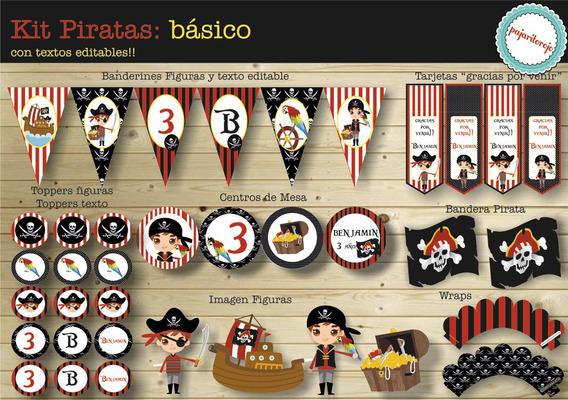 Kit Imprimible Piratas