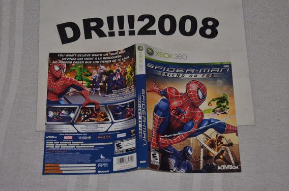 Encarte Spiderman Friend Or Foe Original P/ X-box 360!!!