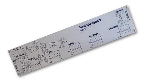 Circuito Impreso Preamplificador Estereo - Audioproject