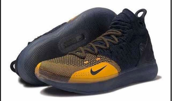 Tênis Nike Zoon Kd11 Michigan Masculino Azul/amarelo.