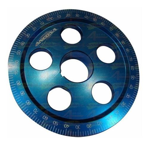 Polia Virabrequim Vw Ar Tamanho 6''  0,40mm Graduada Azul