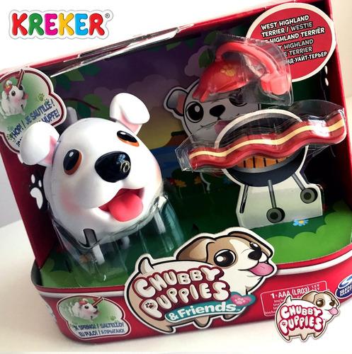 Imagen 1 de 4 de Perrito Gordito Camina Chubby Puppies C/ Accesorios Kreker