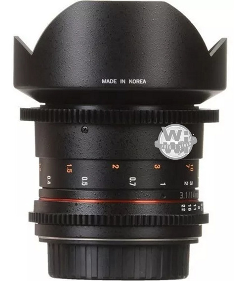 Objetiva Rokinon 14mm T3.1 Cine Ed As If Umc (canon Usada)