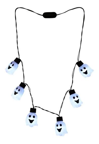 Collar Luces Halloween Focos Led De Fantasmas En Collar