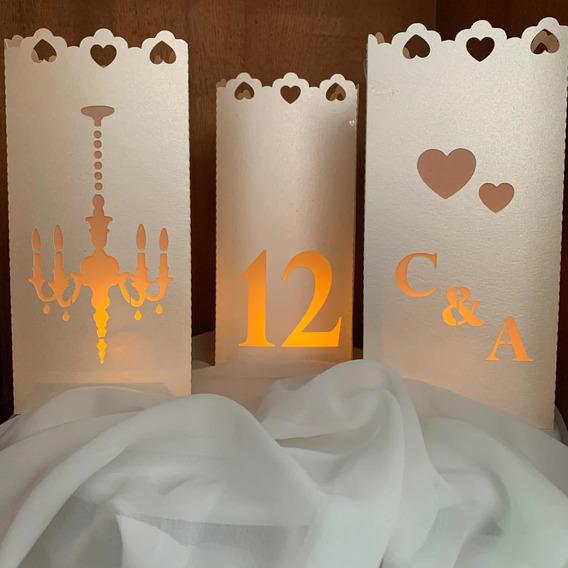 Centro De Mesa Luminosos Casamiento Cumples X 10 Unidades