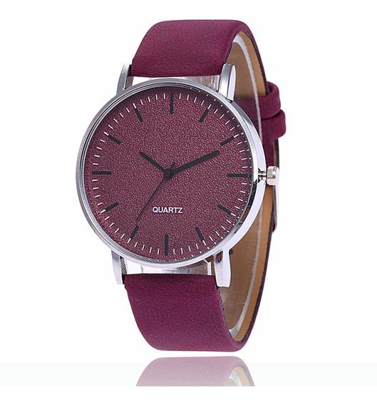 Relógio Unissex Fashion Matte Grande Mostrador Vermelho