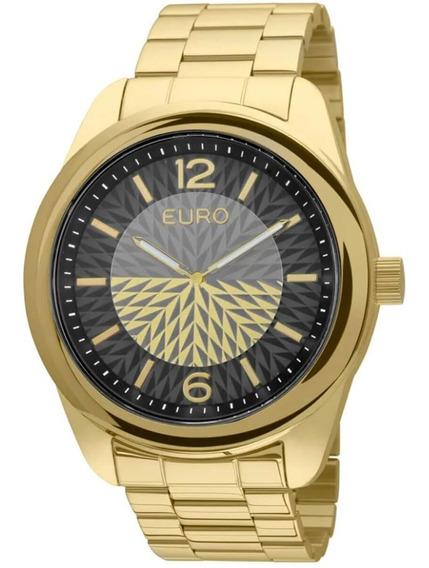 Relógio Feminino Euro Fan Analógico Eu2034al/4p Dourado