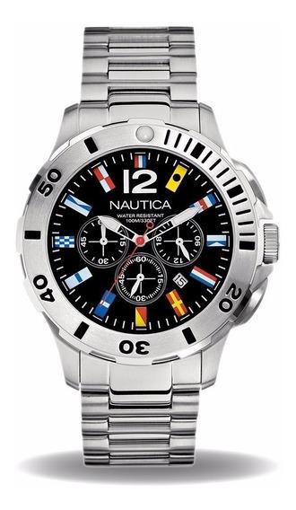 Relogio Masculino Relogio Nautica A21531g Metal Analogico