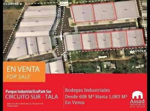 Bodegas Industriales En Venta - Circuito Metropolitano Sur Tala / Tlajomulco - Parque Industrial Ecopark Sur - Desde 608 Hasta 1083 M2
