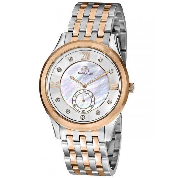 Relógio Feminino Ana Hickmann Analógico Ah28704z Prata Menor Preço Barato
