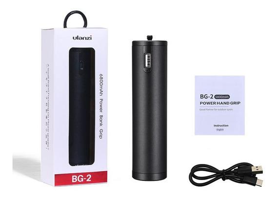 Ulanzi Bg-2 Power Bank Grip 6800mah Suporte Dslr Gopro Osmo