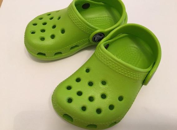 Crocs Original Bebés Nuevas Importadas Talle 19 20 Verdes