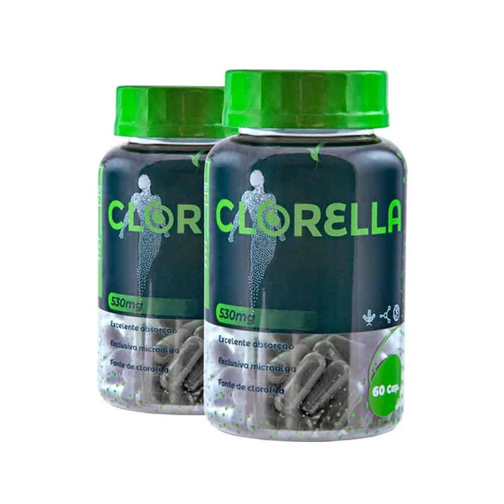 Clorella Eleve Complemento Detox Tratamento 40 Dias