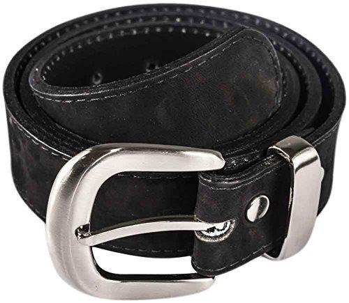 Atitlan Cinturon De Cuero De Cuero De Gamuza Negro 30