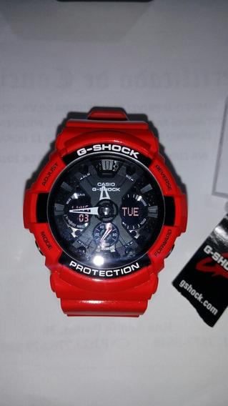 Relógio Casio G-shock Masculino Vermelho Ga_201rd_4adr