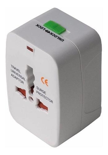 Imagen 1 de 5 de Adaptador Enchufe Universal Premium Viaje  110v 220v, Stock, Mania-electronic