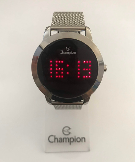 Relógio Champion Ch40017t Prata Digital Led