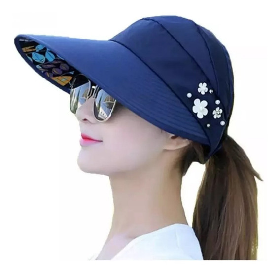 Sombrero Visera Proteccion Uv Para Mujer Enrollable