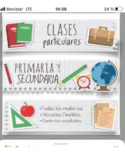 Clases Particulares (primaria Y Secundaria) Prep. Exámenes