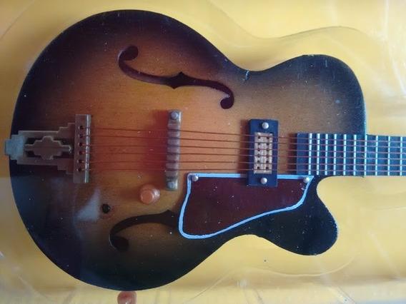 Miniatura Guitarra Jazz Tradicional Rock Cats Salvat Guitar
